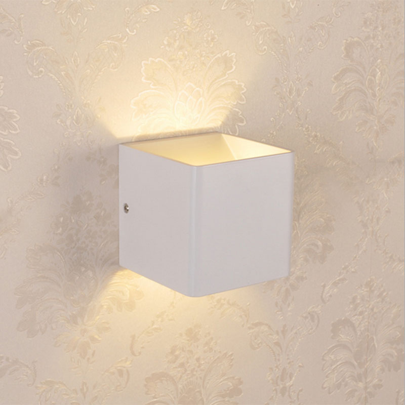 3w led indoor wall lamp surface mounted cube wall light spot up and down wall light indoor - Wand trap ...