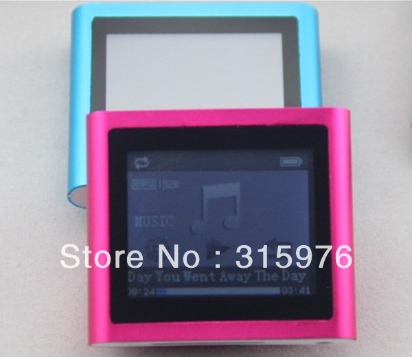 Hotting new 1pcs lot 6th mp3 mp4 player 16GB 1.8 inch Touch Screen With FM,TEXT reader,Audio recorder +Freeshipping