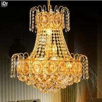 Dining restaurant lights living room lamp study traditional golden crystal Ceiling Lights OLU 0005