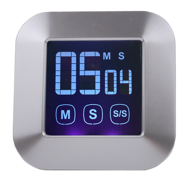 Free shipping, touch LCD screen kitchen timer, digital electronic ...