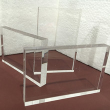 THZ Acrylic Sheet Clear 85x54x10mm Plexiglass Sheets Furniture Plastic Gift Card Cut Any Size