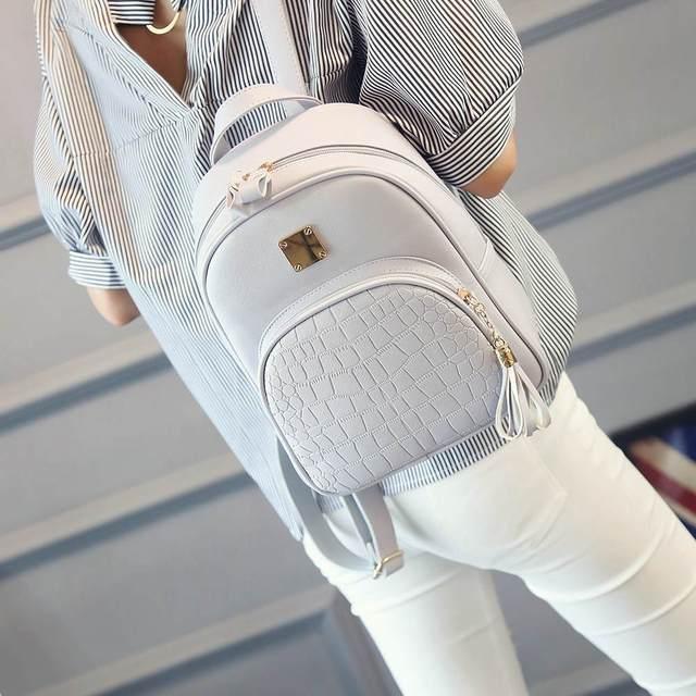 c1b238b2efba NIBESSER рюкзаки женщина 2018 Мини кожаный рюкзак женский сплошной цвет  Bookbag Mochila подарок Backbag рюкзак школьный