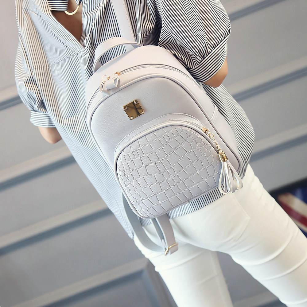 Nibesser Backpacks Woman Mini Leather Backpack Female Solid Color Bookbag Mochila Gift Backbag Backpack Schoolbag For Girls