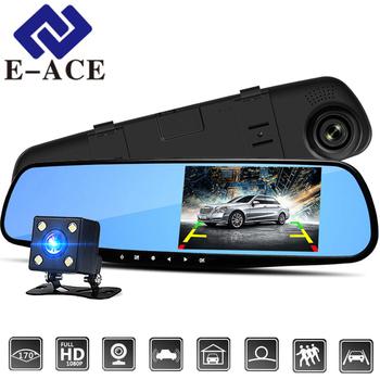 E-ACE 4 3 calowy samochód DVR kamera Full HD 1080P automatyczna kamera lusterko wsteczne z DVR i kamery Auto Recorder dashcam rejestratory samochodowe tanie i dobre opinie REJESTRATOR samochodowy Micro SD TF Wyjście AV USB 2 0 SD MMC 3 -5 Hiszpański włoski japoński chiński (tradycyjny) chiński (uproszczony) koreański francuski rosyjski Rosja angielski