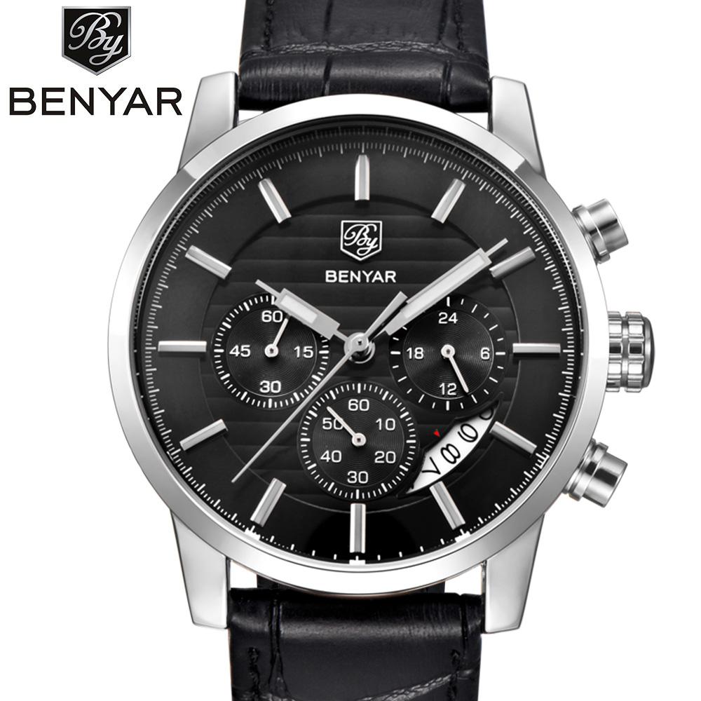 Prix pour BENYAR 2016 Hommes Montres Top Marque De Luxe Entreprise Imperméable Sport Chronographe À Quartz Homme Montre Mâle Horloge reloj hombre SAAT