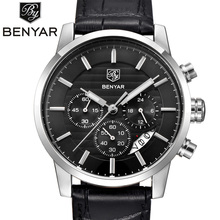 BENYAR 2016 Men Watches Top Brand Luxury Business Waterproof Sport Chronograph Quartz Man Watch Male Clock reloj hombre SAAT