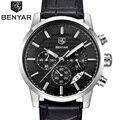 Benyar 2016 homens relógios top marca de luxo negócio homem cronógrafo de quartzo relógio masculino relógio à prova d' água esporte reloj hombre saat