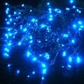 10 M LEVOU lanternas Movido A Energia Solar Ao Ar Livre Luzes Do Jardim Da Lâmpada Decoração Do Casamento Cortina Partido Luzes Cordas 110 V-220 V Natal