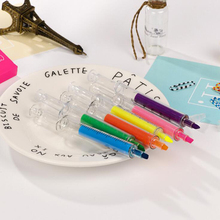 Novelty 6 color syringe style student highlighter set DIY Album diary decoration highlighter Office & School color Markers pen