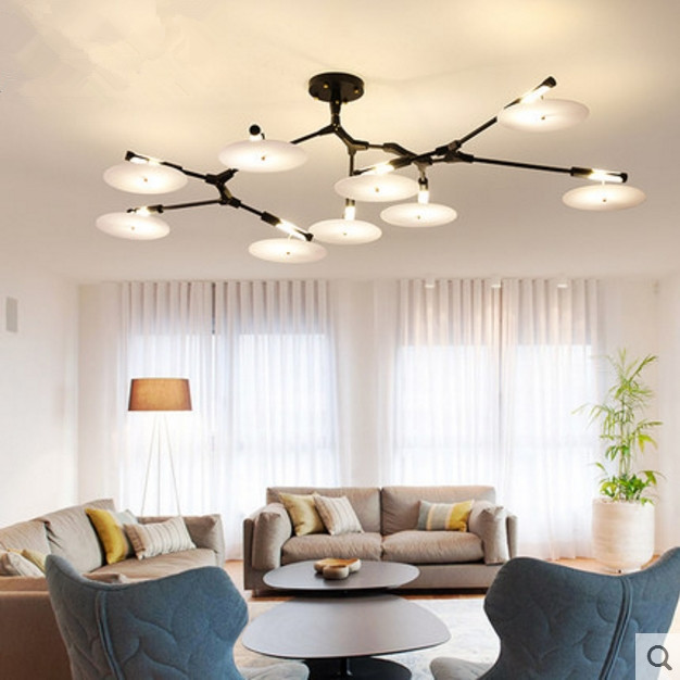 Post-modern minimalist living room dining Nordic branches lamp personality creative arts designer pendant  lights LED G9 a1 led living room dining modern pendant lights ring fashion personality creative pendant lamp art bedroom hall pendant lamps