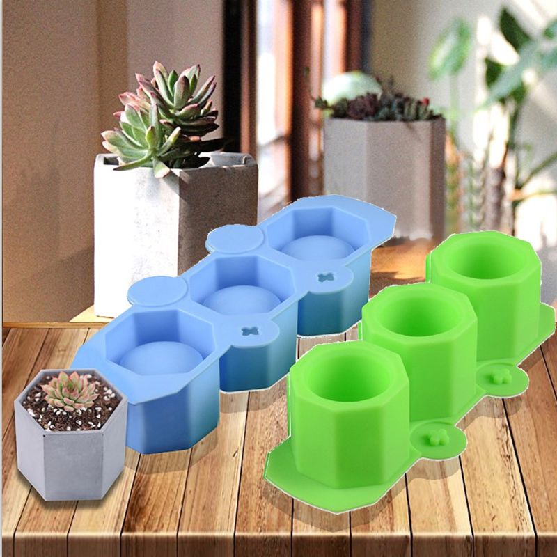 Silicone Mold Geometric Polygonal Concrete Flower Pot Vase Cup Silicone Mold
