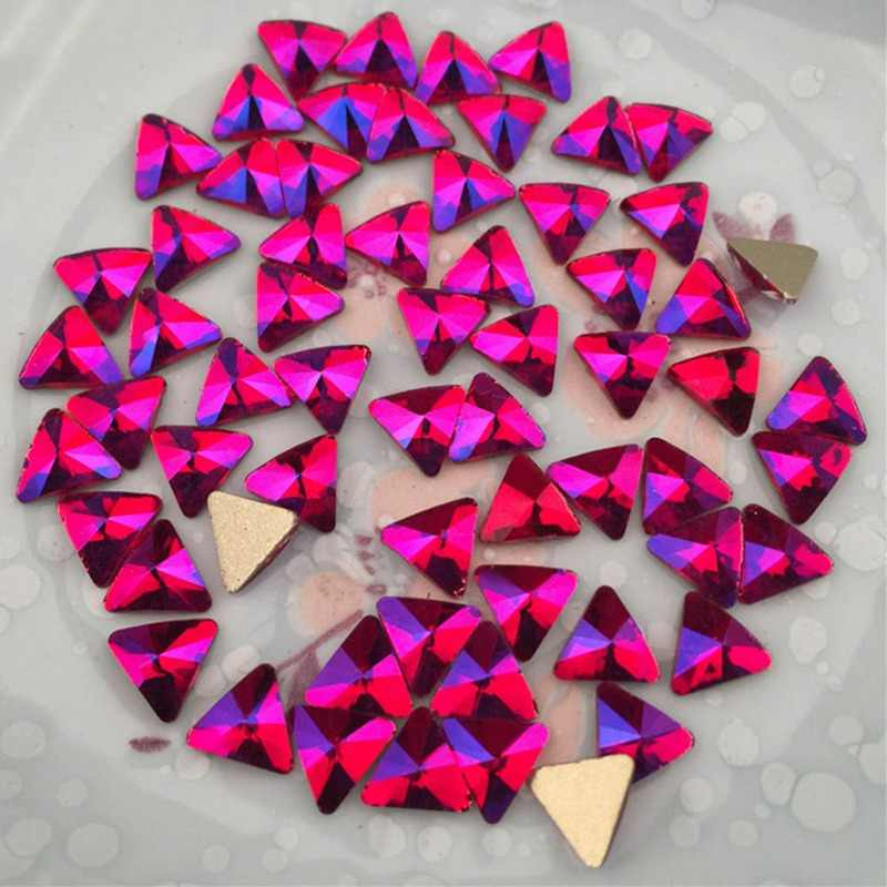 5 pièces paillettes rouge AB cristal Flatback ongles strass gemmes bricolage 3D coeur ovale Marquise losange diamant pierres Nail Art décoration