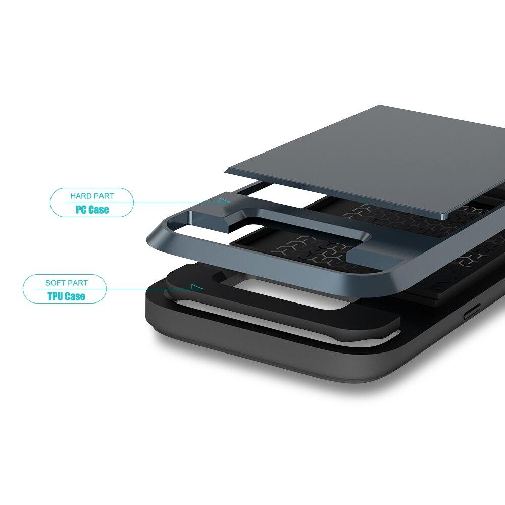 Funda de armadura de titular de tarjeta Kisscase para Samsung Galaxy - Accesorios y repuestos para celulares - foto 5