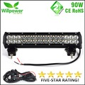 FREE SHIPPING DUTY FREE Dual rows combo beam 4x4 offroad movable bracket CREEs 15 inch 90W LED work light bar 12V