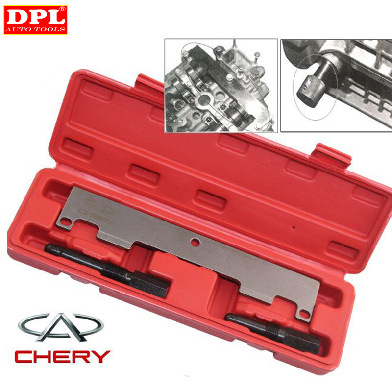 HIGH QUALITY For Chery Engine timing tool for A1 QQ6 A3 A5 and Chery Tiggo Eastar 473 , 481 , 484 MP WITH RED CASE 4pcs auto accessories for chery tiggo a3 eastar fora a1 kimo riich with 481 484 engine timing idler pulley tensioner belt wheel