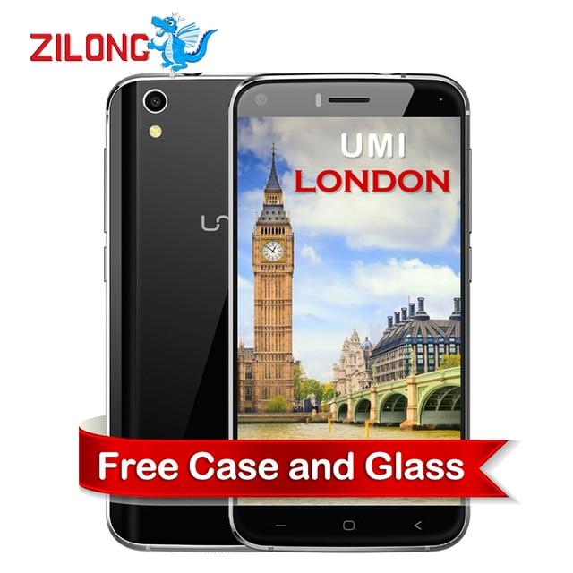 2016 Original Umi London Smartphone 3G WCDMA Cellphone MTK6580 Android 6.0 Marshmallow 1280*720 Quad Core 1GB+8GB Mobile Phone