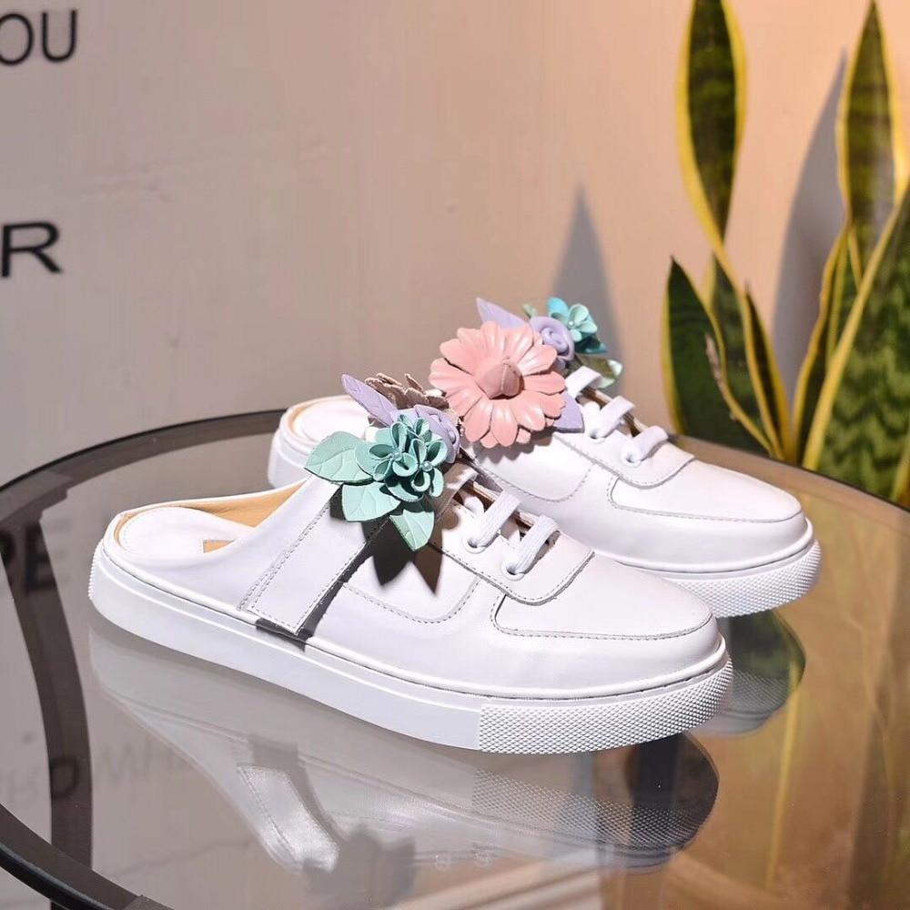 Dentelle Croix As Sabots Femmes Vente Sapato attaché Sneaker Show up Occasionnels Feminino Fleur Confortable Chaussures Appartements Dames Chaude Slingback b76ygf