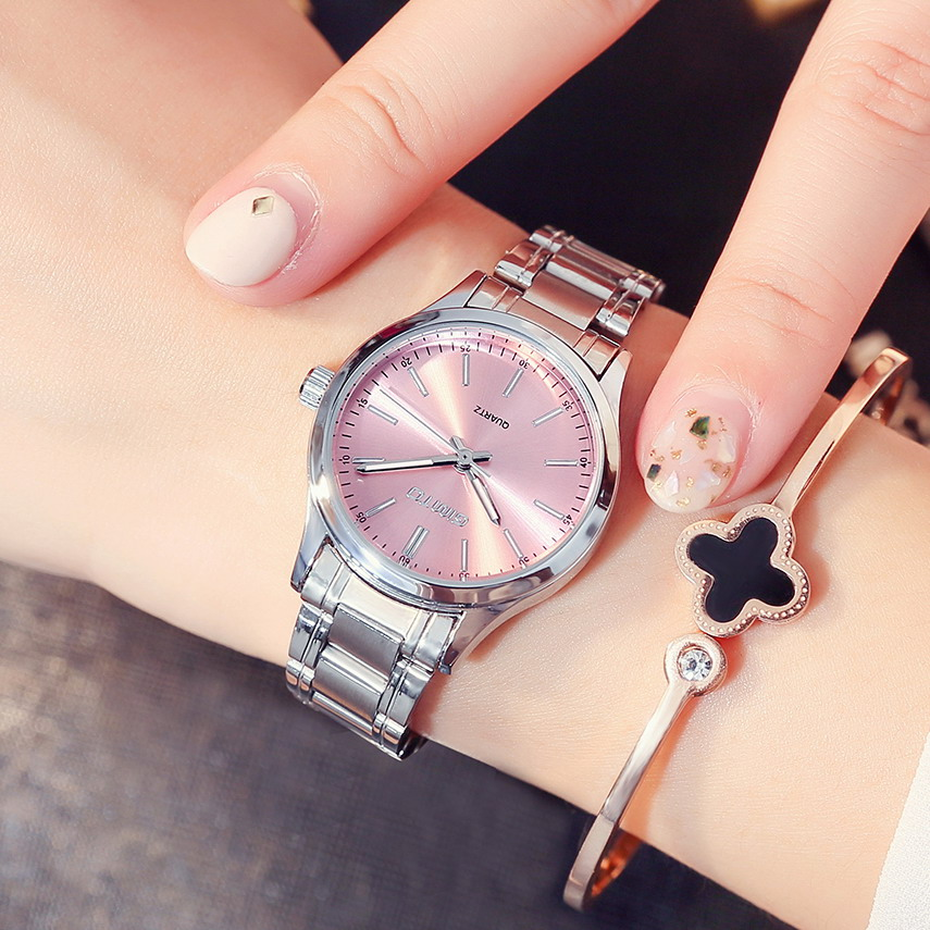 купить GIMTO 2017 Dress Silver Women Watches Full Steel Clock Luxury Brand Lovers Ladies Quartz Watch Fashion Casual relogio feminino по цене 459.84 рублей