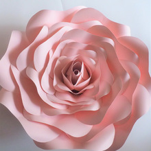 2018 DIY Half Made Paper Flowers Giant Rose Pernikahan & Peristiwa Peristiwa Latar Belakang Deco Baby Nursery Baby Shower Video Tutorial