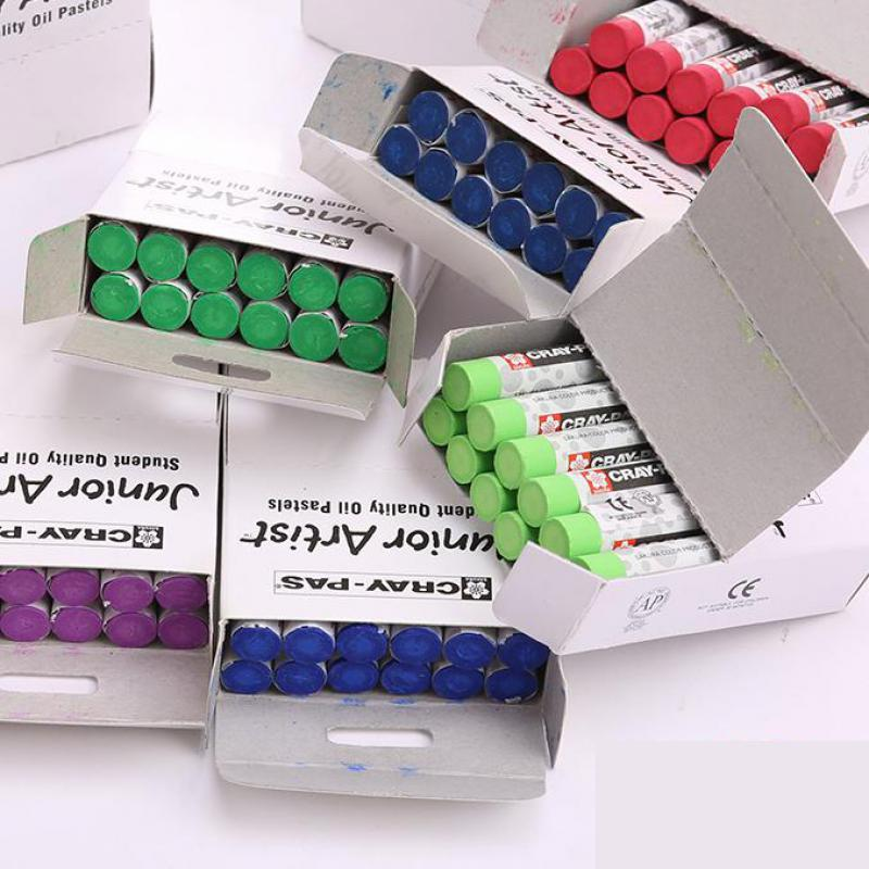 Oil Pastel  Painting Bar Monochrome Crayon  Baby Children Painting Supplies  Non Toxic Waterproof 12pcs Set  Painted Stick