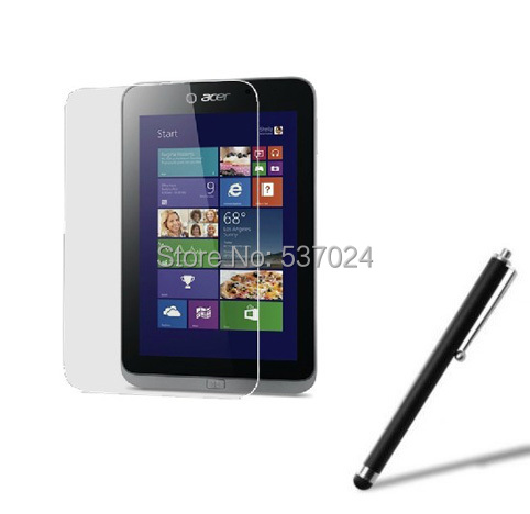 New LCD Clear Screen Protector Films Film Guards +Stylus Touch Pen For Acer Iconia W4 820 W4-820 8 Tablet +Free/Drop Shipping