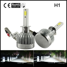 Pair  6000K LED  60W led h1 headlight  12v Car Upgrade Conversion Bulbs kit White headlamp accessories