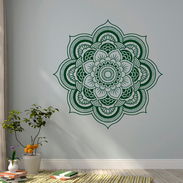 Bohe Mandala Flower Wall Paper Decor Yoga Studio Vinyl: Bohemian Mandala Flower Wall Decal Vinyl Wall Stickers For