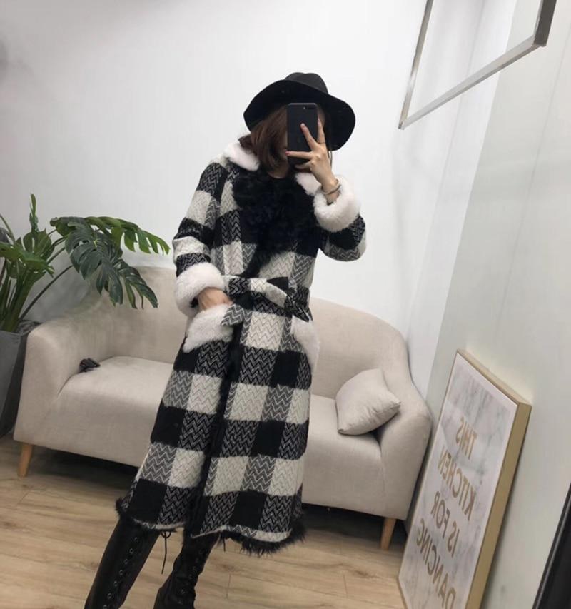 Femmes Réel Fourrure Mouton Hiver Coréenne Taille Vestes Red Vêtements Plus black La Outwear De Parka Manteau 2018 Lingerie dItqwwC