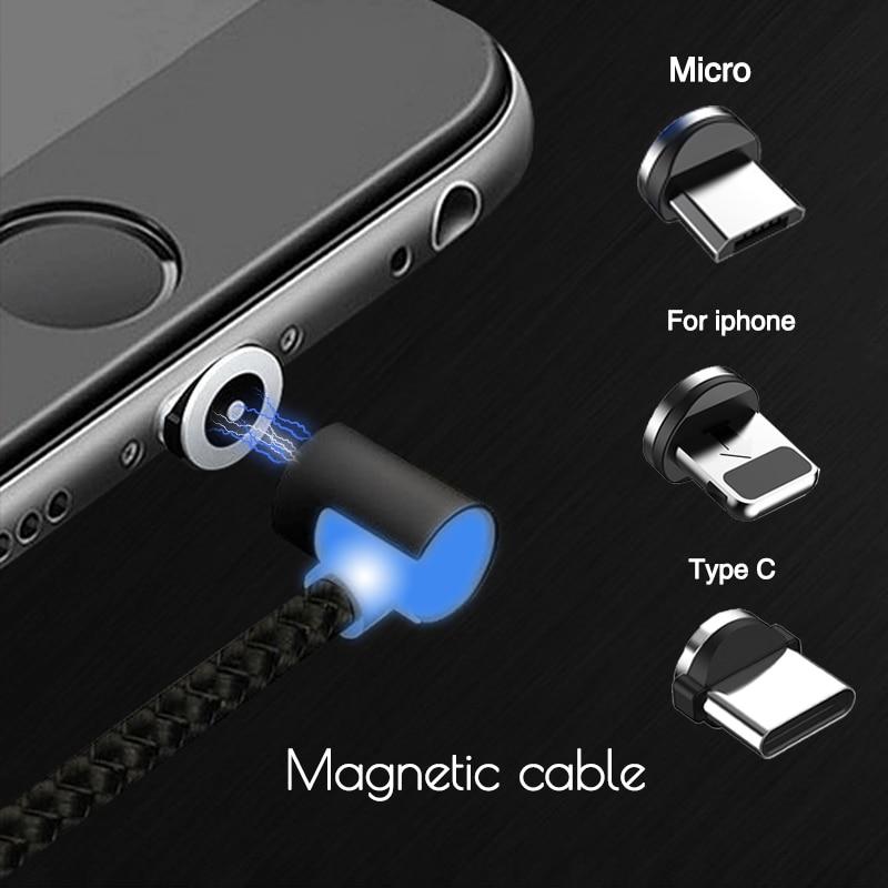 Магнитный <b>microUSB</b>-кабель в оплётке