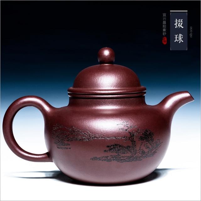 Yixing sand pot original ore master toda la mano industrial de gran capacidad pure handmade tetera Gongfu tetera de barro púrpura grande