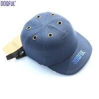 Work Safety Helmet Bump Cap Baseball Cotton Safe Hat Protective Hard Hat Head Protecting Work Site Adjustable Anti-smashing