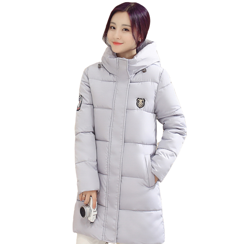 2017 Winter New Korean Version Of Cotton Long Section Of Large Size Women's Slim  Padded Jacket Thick Coat Female CC032