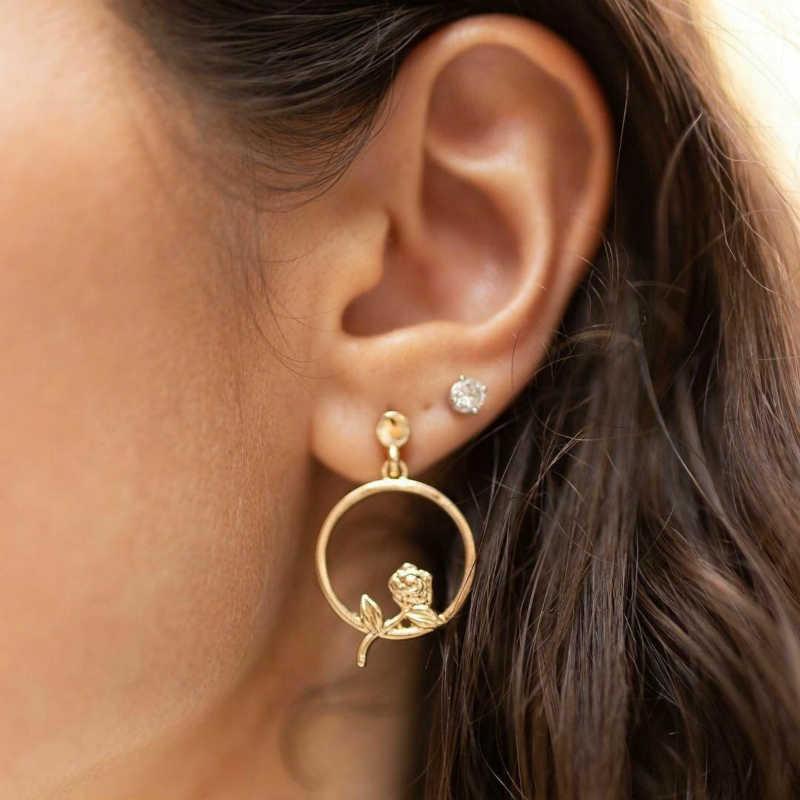 New Earings Fashion Jewelry Oorbellen Gold Earrings For Women Flower Earrings Punk Luxury Earrings Wholesale Jungkook