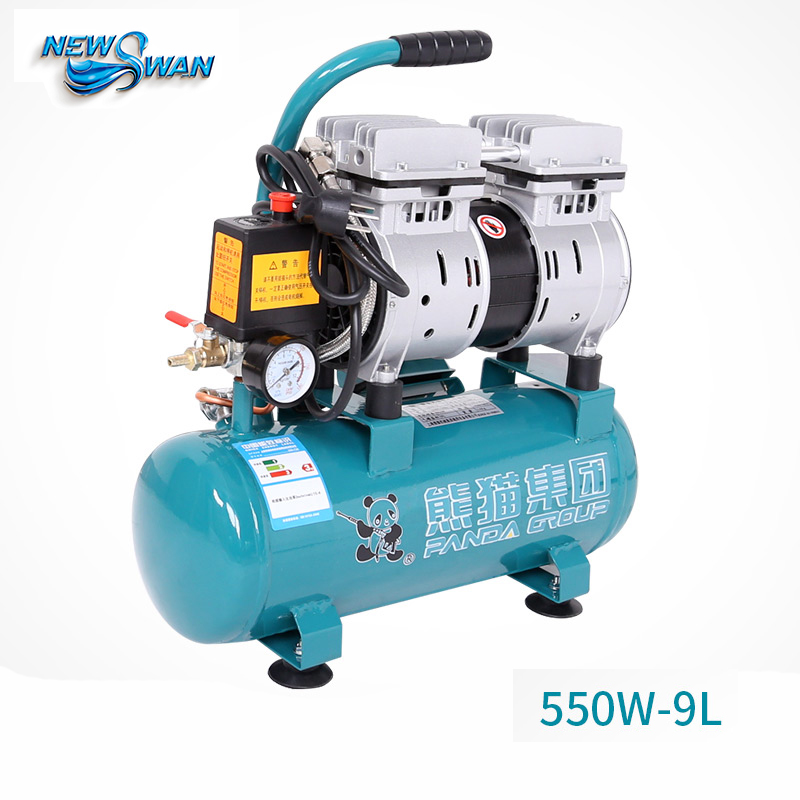 Oil - free Air Compressor High - pressure Gas Pump Spray Woodworking Air compressor small pump 550W9L oil free air compressor high pressure gas pump spray woodworking air compressor small pump 800 30l