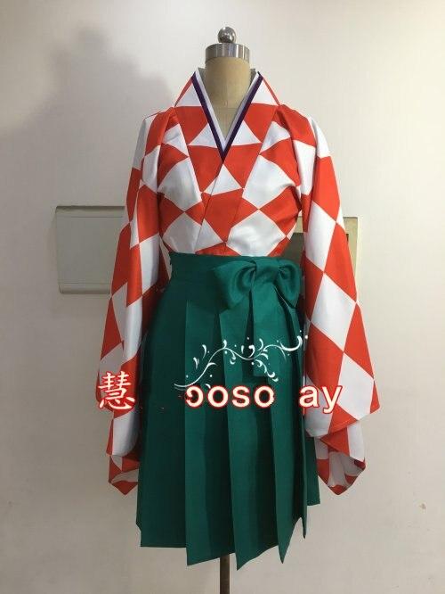 Zombieland Saga Yuugiri Cosplay Costume Anime Kimono Women Dress Suit