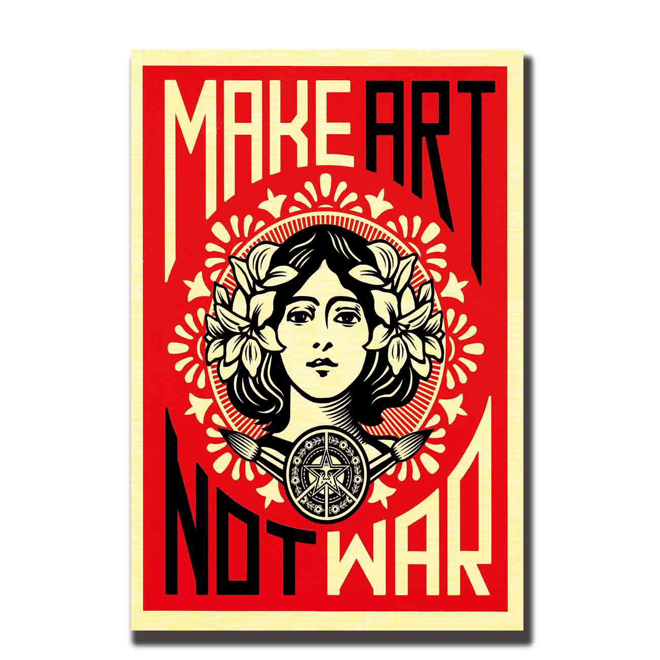 Art Poster MAKE ART NOT WAR movie wall canvas Hot Print painting14x2112x18 24x36 27x40 pictures living room image