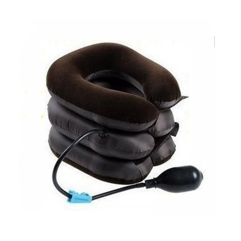 Free Shipping Inflatable Neck Collar Cervical Traction Massage Device A Half Of Velvet Single Tube Neck Health Care