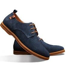 2017 новая мода сплошной цвет мужчины повседневная обувь дышащий уютный Замшевые туфли
