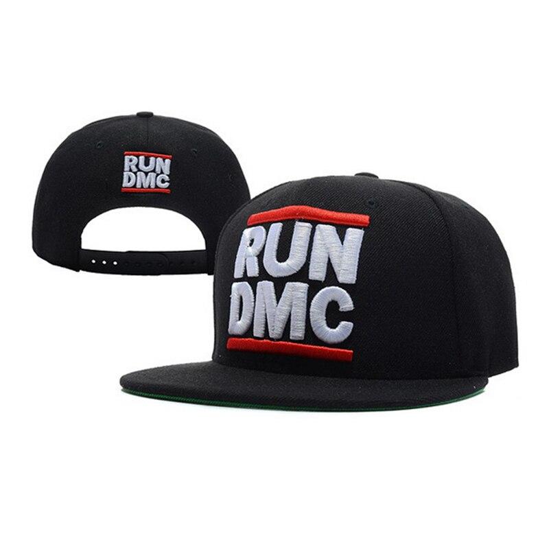 Prix pour Snapback chapeaux pour hommes Run dmc lettre os Hip Hop Casquette de Baseball hommes femmes Gorras réglable Cappelli Casquette