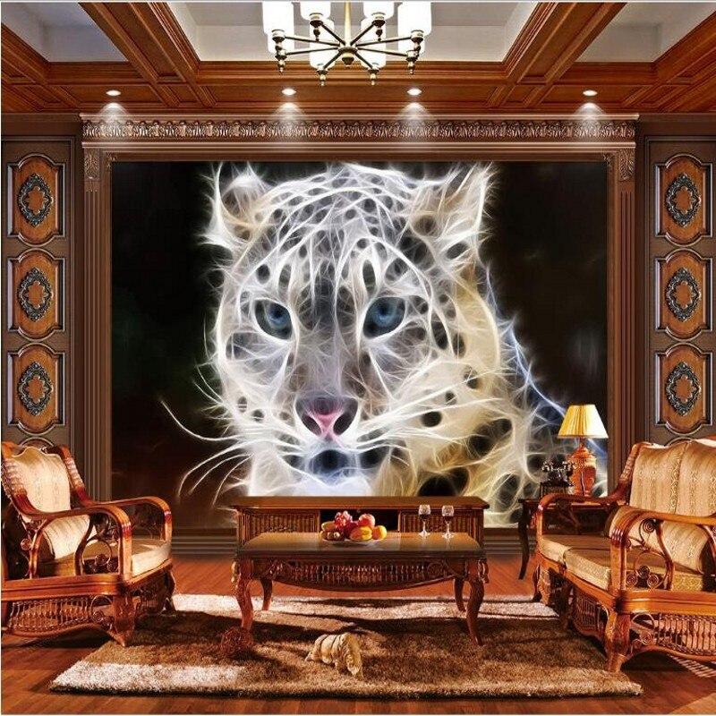 8 14 40 De Réduction Beibehang Personnalisé Grand Fresques Dynamique Rayures Leopard Non Tissés De L Environnement Papier Peint Papel De Parede 3d