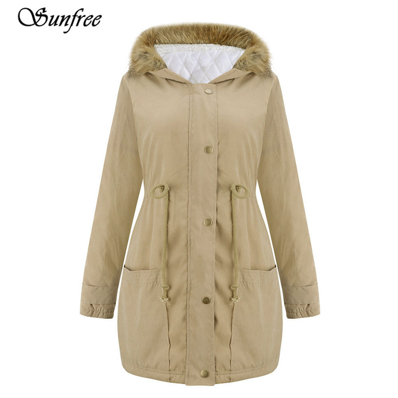 Sunfree 2017 New 1PC  Womens Jacket Hooded Winter Parka Coats Top Cotton Ladies Coat Outwear Brand New High Quality Dec 21 charter club 2738 new womens white cotton henley top shirt petites ps bhfo