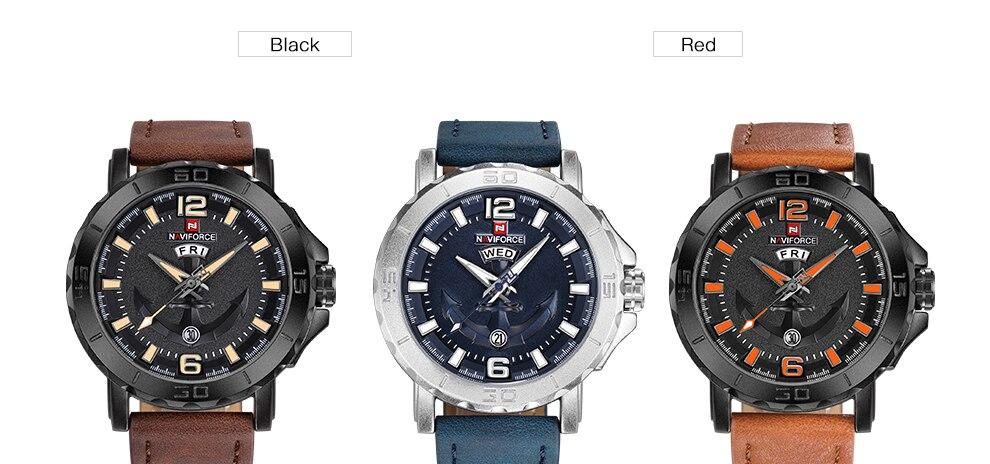 HTB1KGRZunJYBeNjy1zeq6yhzVXac NAVIFORCE Men's Fashion Business Quartz Wristwatches Creative Sports Watches Men Luxury Brand Watch Clock Male Relogio Masculino
