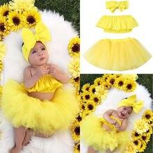 Комплект летней детской одежды из 3 предметов для девочек милый