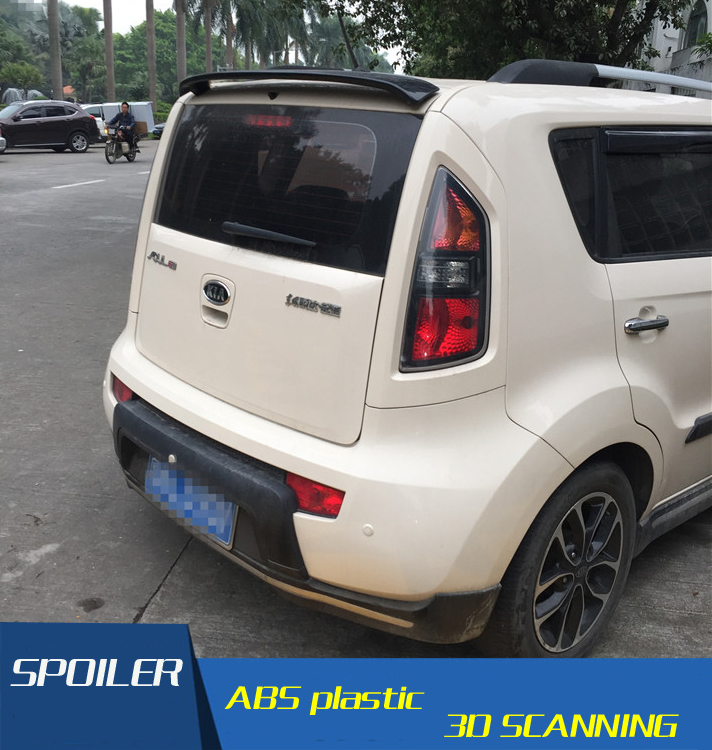 For Kia Soul Spoiler High Quality Abs Material Car Rear