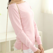 new sweater women wool sweater sexy pullover casual spring autumn basic pullover ladies(China)