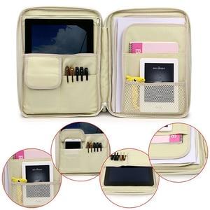 Image 5 - Carpeta organizadora de documentos A4 Padfolio multifunción Business funda, soporte para bolsa de Ipad Oficina archivo maletín almacenamiento papelería
