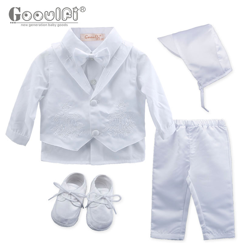 Gooulfi baby boys clothing Sets baptism baby boy 6 Pcs clothes newborn clothes boy baptism christening Baby Boy Clothes favors