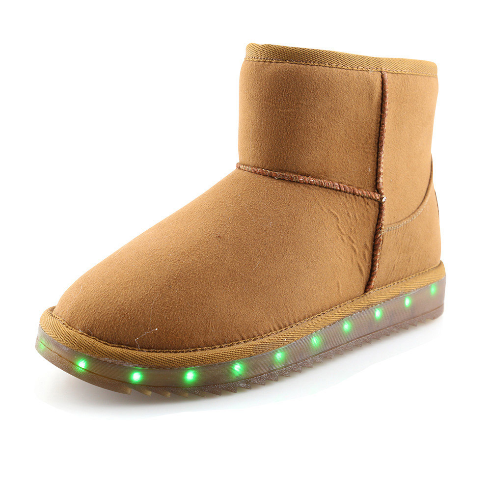 Idea Frames Light Up Snow Boots Fashion Fur Safety Boots Hot New Baby Boys Girls Led -6392