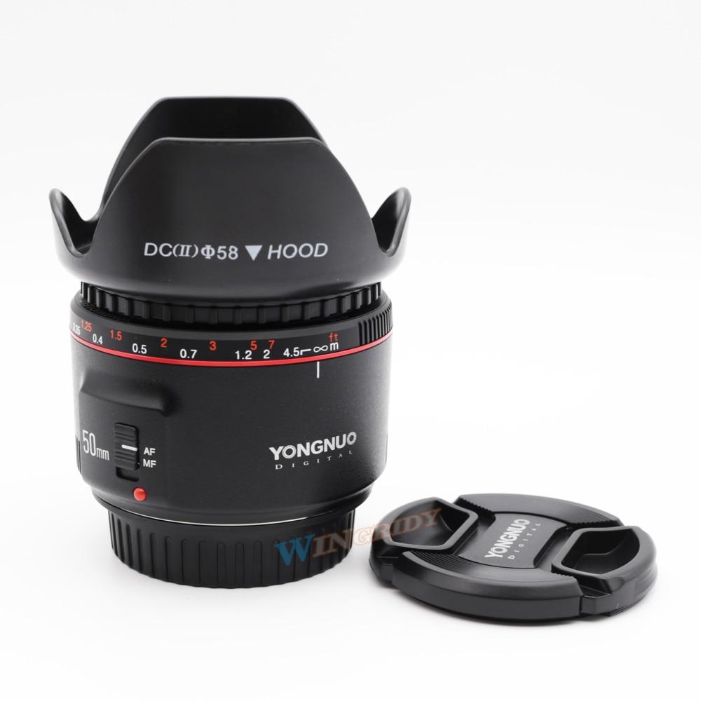 YN50mm F1.8 II YONGNUO Large Aperture Auto Focus Lens for Canon Bokeh Effect Camera Lens for Canon EOS 6D 70D 5D2 5D3 600D DSLR