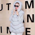 Real Fox Fur Coat Women Detached Sleeve Winter Genuine Fur Outerwear New Plus Size Fur Jacket Overcoat Parka Female Fox Fur Coat